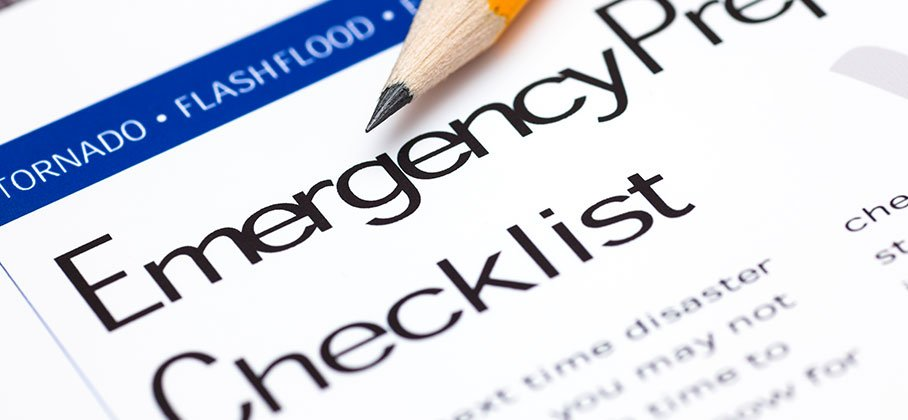 Emergency checklist paper