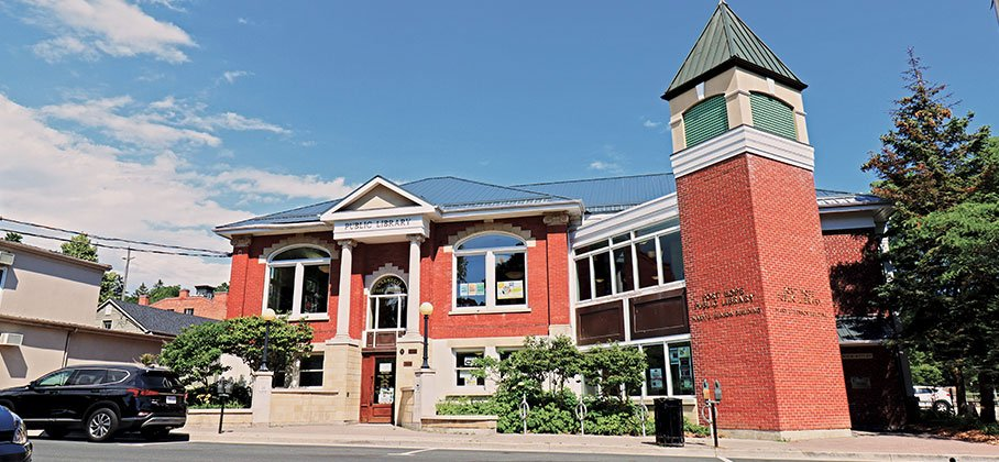 Street view photo of the front of the Port Hope Public Library