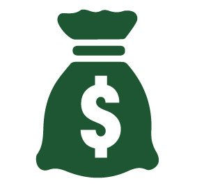 Bag of money icon